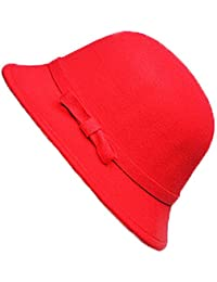 Crystallly Bonnet Ladies Elegant Invierno Bow Otoño Dome Topper Imitación  Bowler Estilo Simple Hat Trilby Sombrero c2e69d86e10