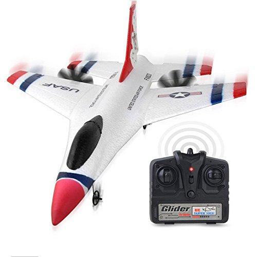 bescita 2.4G 2CH RC Flugzeug Glider Fernbedienung Flugzeug Outdoor Flugzeuge Gastgeschenk Spielgeräte