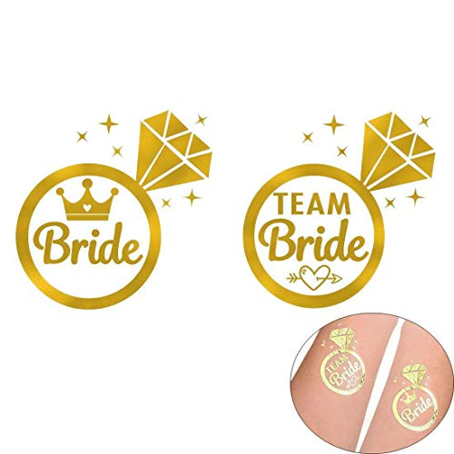 Gudotra 22 packs addio al nubilato gadget 2pz tatuaggi temporanei per sposa e 20 pz per team bride per addio al nubilato nozze