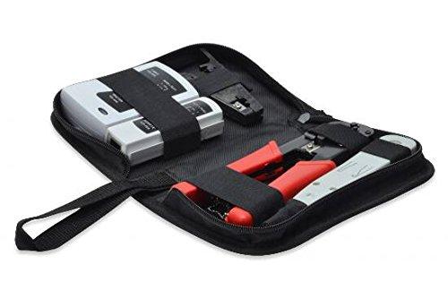 DIGITUS LAN Netzwerk Werkzeug-Set - Netzwerktester - Crimpzange - Schneide- & Abisolierwerkzeug - LSA Auflegewerkzeug -