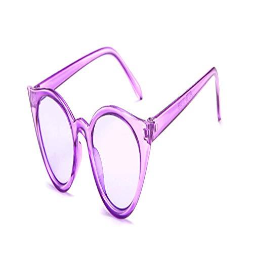 Vikimen Sportbrillen, Angeln Golfbrille,Women NEW Sunglasses Cat Eye Luxury Brand Designer Sun Glasses Red Ladies Sunglass Female Cateye Goggle UV400 PURPLE