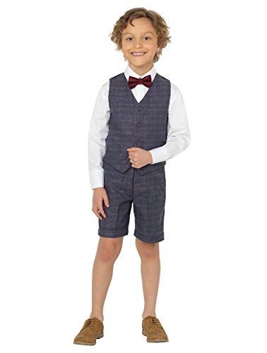 Shiny Penny Boys Suits with Shorts, Page boy Suits, Waistcoat Suits, 3 Months - 8 Years