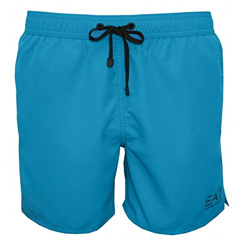 Emporio Armani Meer Welt Männer Schwimmen Shorts, Türkis Blau