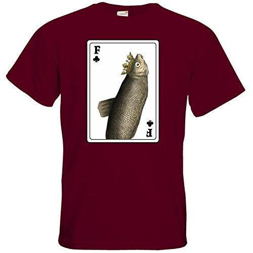 getshirts - Rocket Beans TV Official Merchandising - T-Shirt - Verflixxte Klixx - Fischkarte Burgundy