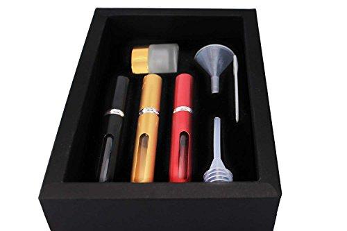Red.E Parfümzerstäuber-Flaschen, nachfüllbar, Reisegröße, Set in 3modischen Farben Slim Gold -