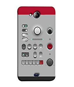 FUSON Designer Back Case Cover for Micromax Canvas Play Q355 (Lots Of Buttons Switch Lights Volumn Power Indicator)