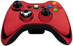 Official Xbox 360 Wireless Controller - Chrome Red (Xbox 360)