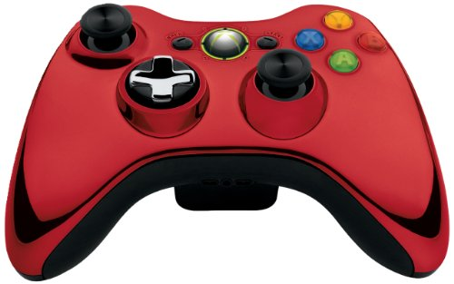 Plug-and-play-kit Xbox 360 (Xbox 360 Wireless Controller mit umschaltbarem D-Pad, chromrot (Limited Edition))