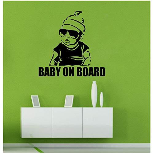 Adesivi muralibaby on boardocchiali da sole per bambini adesivi creativi fashionneri46.5 * 45.6cm