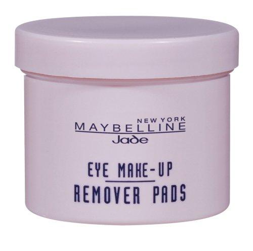 Maybelline Eye Make-Up Remover Pads – zarte Baumwollpads, entfernen selbst wasserfestes Augen-Make-up schnell und gründlich, pflegen und erfrischen die Augenpartie, ideal für unterwegs, 50 Pads
