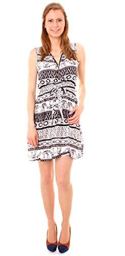 Easy Young Fashion -  Vestito  - Donna Indisch creme/schwarz
