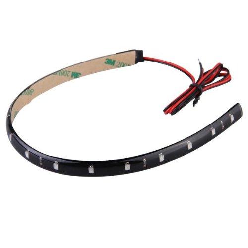 Bande Néon Eclairage Flexible Lampe 15 LEDs 30CM Etanche Vert
