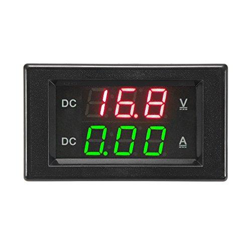 Kreema DC0-100V 20A Digital Voltmeter Amperemeter LED Strom Meter Amp Volt Tester Dual Display Panel -