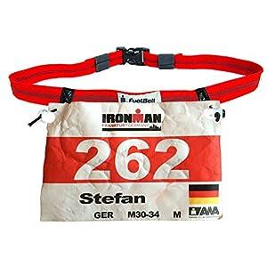 FuelBelt Ironman Reflektive Startnummernband Race Number Belt für Triathlon Marathon Laufen Radfahren | Nummerngurt | Start-Nummern-Gurt