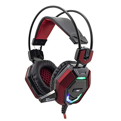 White Shark GH-1644 Head-Band Black, Red Headset - Headsets (PC/Gaming, Head-Band, Black, Red, Wired, 1.85 m, Circumaural) Circumaural Gaming-headset