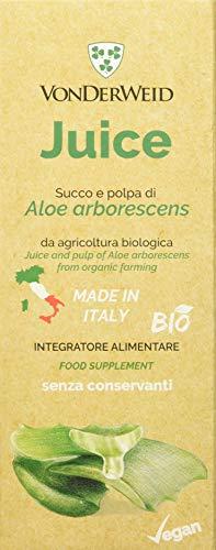 Vonderweid - Juice di Aloe Arborescens, Succo biologico da polpa di foglia fresca di Aloe Arborescens, 500 ml