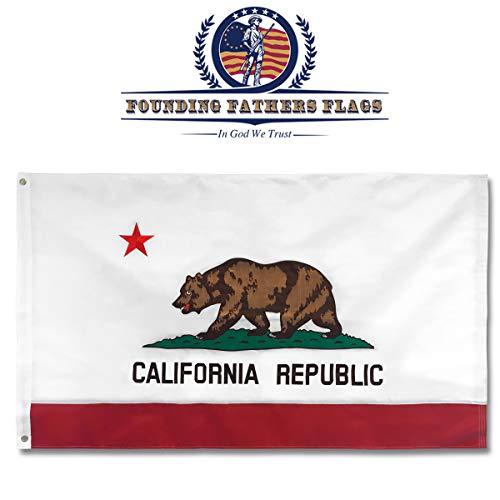 California doppelseitig bestickt 3X 5'Flagge-Gründerväter Flaggen -