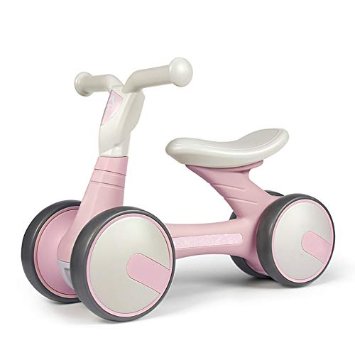 CHEERALL Baby Balance Bike Push Fahrrad ohne Pedal, sicher und bequem für Kleinkinder Indoor Outdoor, Mini-Trainings-Dreirad, stabile Struktur, erstes Fahrrad,Pink