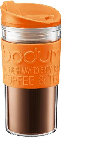 Bodum - 11103-948B-Y17 - Mug de Voyage Isotherme - Double Paroi Plastique - 0.35 L - Orange