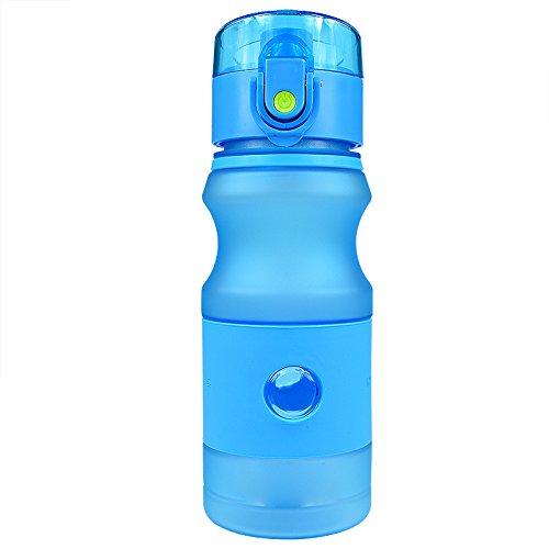 nlichkeits-Eignungs-Plastikschale Tragbar mit Stroh-Einfachen Männern und Frauen-großer Kapazitäts-Sport-Wasser-Schale,B-Blue-420ML ()