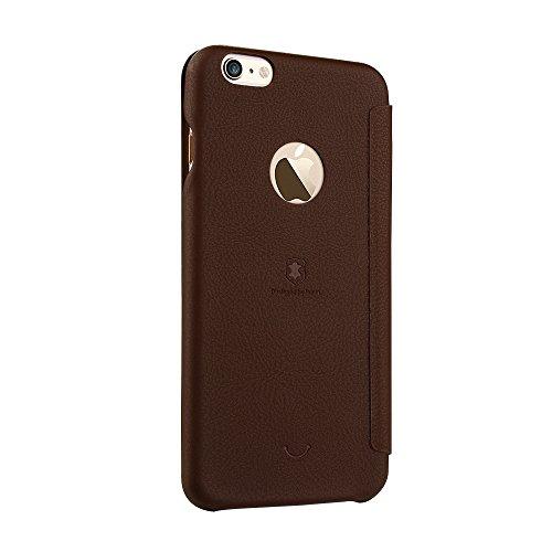 Phone case & Hülle Für IPhone 6 Plus / 6s Plus, PU + PC Litchi Textur Horizontale Flip Leder Tasche mit Kartensteckplätzen ( Color : Brown ) Brown