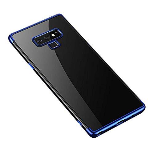 MuSheng For Samsung Galaxy Note 9 Hülle Case, Leichter Fashion Stoßfest Transparente Weicher TPU Überzug Hülle für Samsung Galaxy Note 9 (Blau) Samsung Super-slim