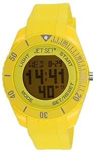 Jet Set - J93491-19 - Bubble - Montre Mixte - Quartz Digital - Cadran Jaune - Bracelet Caoutchouc Jaune
