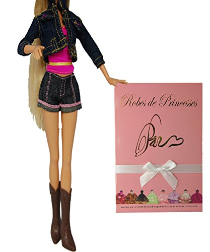 """Vestito da principessa """"STATES"""" per Bambole Barbie, Disney ed altri personaggi."""