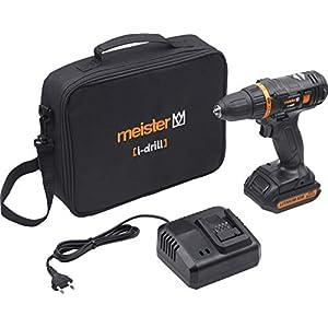 Meister Akkubohrschrauber i-drill Maxx, 16 V – 2,0 Ah Akku – 2-Gang Getriebe – Schnellspannbohrfutter – 40 Nm Drehmoment…