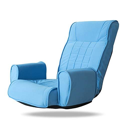LRSFM Lazy Couch Einzelne Klappsofa Balkon Freizeit Lounge Chair Sitz Waschbar (Farbe : Blau)