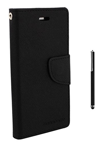 LeTv 1S Flip Cover By Online Street (Black + Stylus Touch Stick)