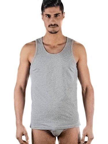 Herren Unterhemd 100% kbA Bio-Baumwolle GOTS Tank Top Unterwäsche T-shirt 4 Farben Grau