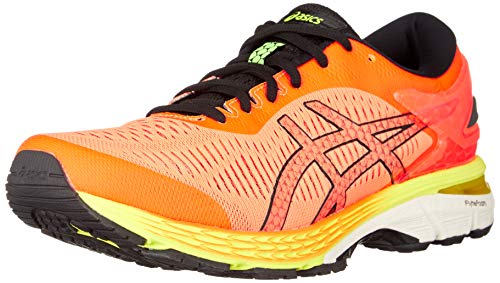 ASICS Herren Gel-Kayano 25 Laufschuhe, Shocking Orange/Black 800, 43.5 EU - Shoes Running Winter Asics
