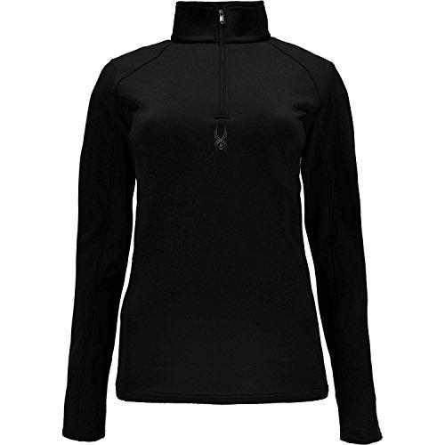 Spyder Damen Savona Therma Stretch T-Necks and Shirts, Schwarz, S (Lange Top Ärmel Neck Drape)