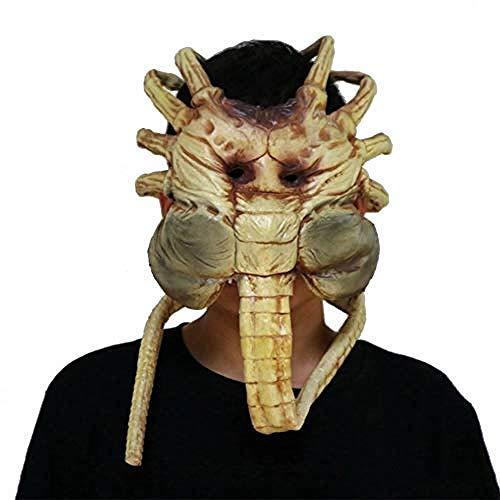 Lxdzgm -Halloween Maske Alien greifen Gesicht Insekt große Spinne Modell extra Langen Schwanz rollbare Hand Modell Party Karneval Dressup Party gruselig große Spinne