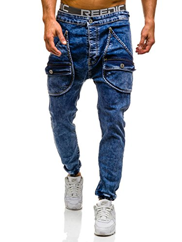 BOLF Pantalons de sport Jeans pantalons Homme 6F6 Bleu