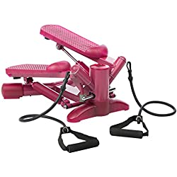 Ultrasport Stepper per donna, twister, home trainer, mini stepper incl. fasce di allenamento