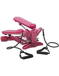 Ultrasport Step pour femme, Twister, Mini stepper avec cordes élastiques