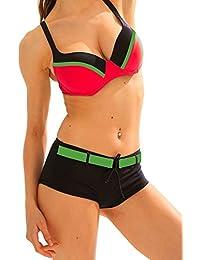 Maillot de Bain Femme 2 pièces Bikini Shorty Armature