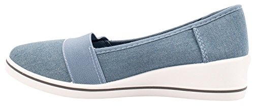 Elara Keilpumps Wedges | Bequeme Sportliche Damen Pumps mit Keilabsatz Light Blue Summer