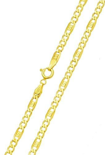 Goldkette Halskette Gelbgold Gold Mäander 333 8KT 45 cm x 3,60 mm