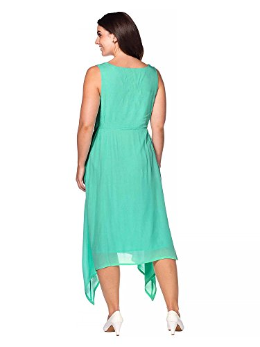 sheego Style Femmes Robe longue Grandes tailles Menthe