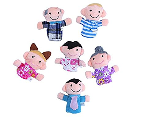 niceEshop(TM) Cute 6pcs Family Finger Puppets - People Includes Mom, Dad, Grandpa, Grandma, Brother, Sister +niceEshop Cable
