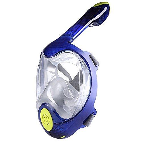 Schnorchelmaske Neueste Upgrades Taucherbrille und Schnorchel Freediving Schnorchel Maske Schnorchel Set Wasserdichte und Anti-Fog-Linse Full Face Design Scuba Brille 2 Größen erhältlich S / M L / XL