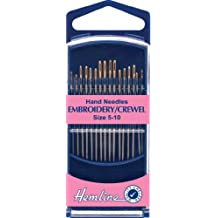 Hemline H280G.510 Gold Eye Embroidery/Crewel Hand Sewing Needles 16 Pk Size 5-10