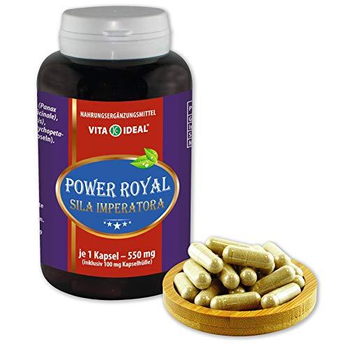 VITA IDEAL ® Power Royal (Sila Imperatiora) 180 Kapseln je 550mg, mit Ginseng, Ingwer, Schisandra, Potenzholz, ohne Zusatzstoffe