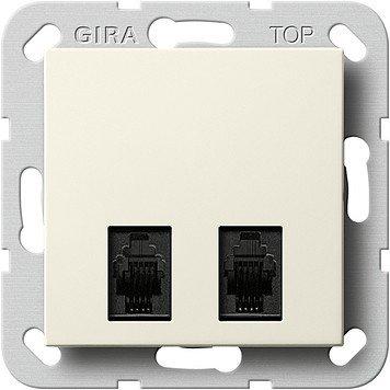 Gira 590701-2connettori per cavi di diagnostica, sistema 55, colore: bianco crema