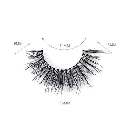 ��Rifuli® 1 Paire falsche Wimpern flauschigen Streifen Wimpern lange natürliche Party Make-up Wimpernpflege Magnetische Wimpern Magnet Wimpern Wiederverwendbare ()