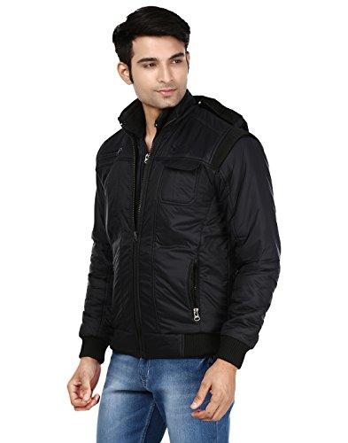 Ico Blue Stor Men's Polyester Full Sleeve Solid Jacket (Divider_Black_38) 41lcBrTO5sL