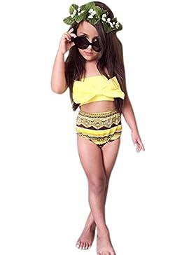 Bluestercool Costume da Bagno Intero Bambina Costumi Bikini Carino per Bambine Ragazza